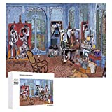 Traasd11an Jigsaw Puzzle 500 Piece- Picasso's Studio,Every Piece is Unique, Softclick Technology Means Pieces Fit Together Perfectly