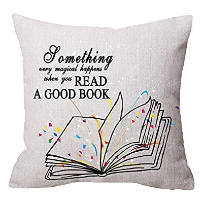 NIDITW a Room Without Books is Like a Body Without Soul Vintage Old Texture Waist Lumbar Burlap Throw Pillow case Cushion Cover Pillowcase Home Reading Room Library Decorative Square 18x18 Inches