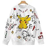 WAWNI 2020 New Pikachu Sweatshrits Lange Ärmel Geometrische Harajuku Pokemon...