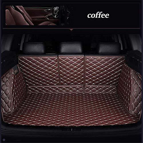 Kofferraummatte Kofferraumschutz für Volkswagen Alle Modelle Vw Passat Polo Golf Tiguan Jetta Touran Touareg EOS Kofferraum Schutzmatte Ladekantenschutz Autozubehör, Kaffee