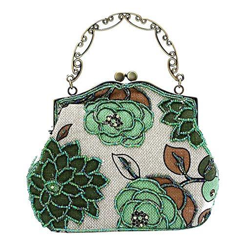 Vintage de lujo cuentas mujeres bolso noche bolsa