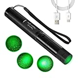 7. ESSNAMS Green Stage Camping Light, Long Range Pointer LED Light USB Rechargeable Flashlight for Night Camping