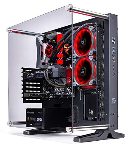 Thermaltake LCGS Shadow III AIO Liquid Cooled CPU Gaming PC (AMD RYZEN 5 3600 6-core, ToughRam DDR4 3200Mhz 16GB RGB Memory, RTX 2060 Super 8GB, 1TB SATA III, WiFi,Win 10 Home) P3BK-B450-STL-LCS,