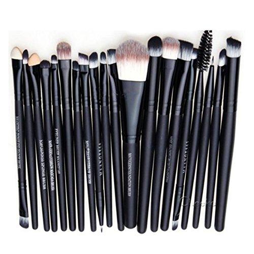 Gespout 20pcs Ombre à paupières Brosse Maquillage Pinceau de Maquillage Brushes Professionnel Ensemble d'outils de Maquillage Senior Multicolore