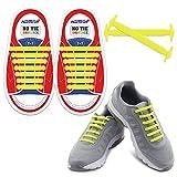 HOMAR Kids Schnürsenkel für Sneakers - Best in Sport-Fan Shoelaces - Gummi Wasserdicht Keine Krawatte Flach Schnürsenkel Perfekt für Sneaker Stiefel Oxford Laufschuhe - Gelb