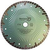EDW Diamanttrennscheibe Granit Turbo GTS, Durchmesser 230 mm, Bohrung 22,23 mm, Segmenthöhe 9 mm, Naturstein, Beton, zusätzliche Schutzsegmente sehr schnittfreudig, wird auch in Grün geliefert,