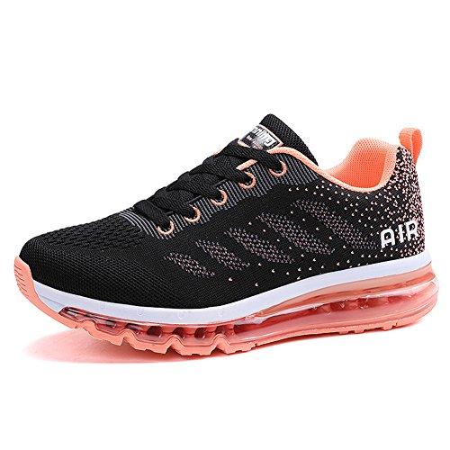Unisex Herren Damen Sneakers Sportschuhe Bequeme Laufschuhe Schnürer Air Running Shoes 35-45(833Rored40)