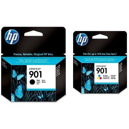 Hp 901 Multipack Original Druckerpatronen Schwarz Farbe Für Hp Officejet Bürobedarf Schreibwaren
