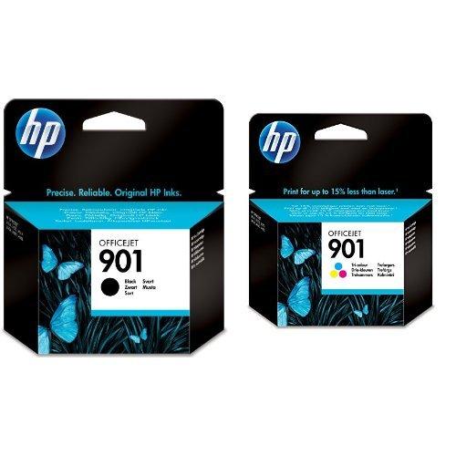 HP 901 Multipack Original Druckerpatronen (Schwarz, Farbe) für HP Officejet