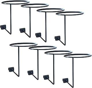 Conjunto de 8 suportes Homyl, prateleira de armazenamento para exibição de parede, metal montado na parede