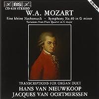 Mozart: Transcriptions for Organ Duet - Eine kleine Nachtmusik, Symphony No.40
