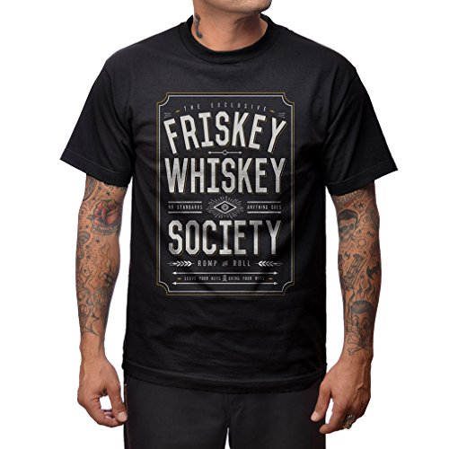 Steady Clothing Rockabilly T-shirt voor heren, Friskey Whiskey