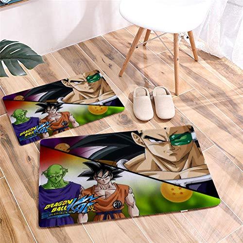 Gedrukte Cartoon Dragon Ball deurmat vloermat bureaustoel antislip badkamer vloerkleden Flanel tapijt hal deurmat-EEN_40 * 60