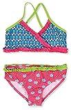 Playshoes Mädchen Zweiteiler Bikini Blumen, UV-Schutz nach Standard 801 und Oeko-Tex Standard 100, Gr. 86 (Herstellergröße: 86/92), Mehrfarbig (original 900)