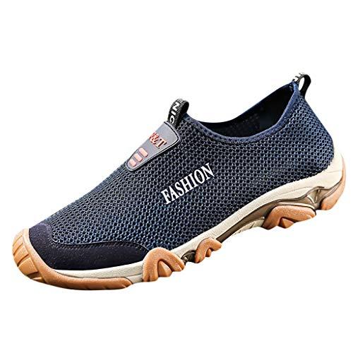 Calzado Deportivo Transpirable para Hombres de Verano Zapatos de Malla Transpirables Zapatos para Caminar Antideslizantes Resistentes Al Desgaste Zapatos de Secado Rápido con Pedal Aguas Arriba 1803