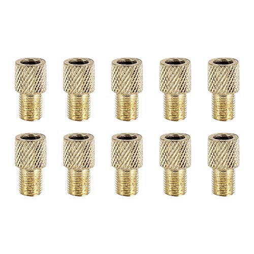 MAGT Bike Pump Adapter, 10pcs Brass Bicycle Pump Valve Converter for Mountain and Road Bike