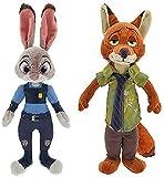 Authentic Nick Wilde & Judy Hopps Stuffed Plush Disney Movie Zootopia