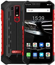 Ulefone Armor 6E Android 9.0 Móvil Anti Agua/antigolpes - Helio P70 Smartphone Resistente al Golpes, Octa-Core 4GB + 64GB, 6.2'' FHD+ Pantalla Notch, Carga inalámbrica, IP68 Impermeable -Rojo