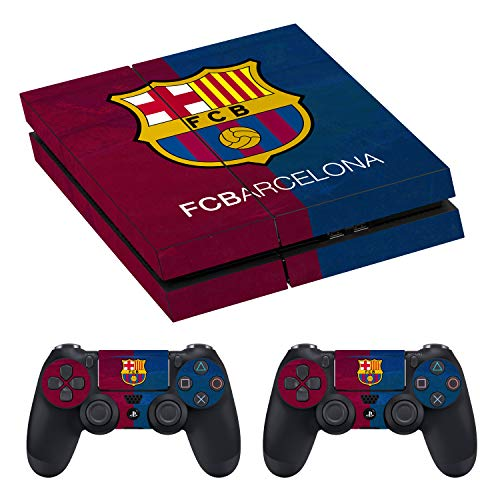 PS4 Protective Skin - Barcelona - Compatible with Sony PlayStation 4 Original - Skins Vinly Wrap for 2 Controllers and Console