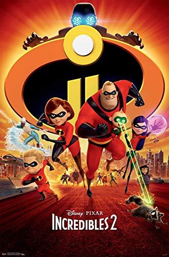 Trends International Disney Pixar The Incredibles 2 - One Sheet Wall Poster, 22.375' x 34', Unframed Version