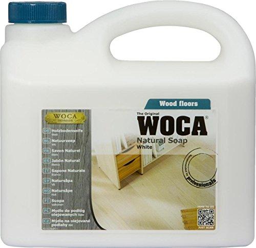5 Liter WOCA Holzbodenseife WEISS + 1 Baumwollüberzug für 40cm Wisch-Mop, Marke: Baumarkt-konkret