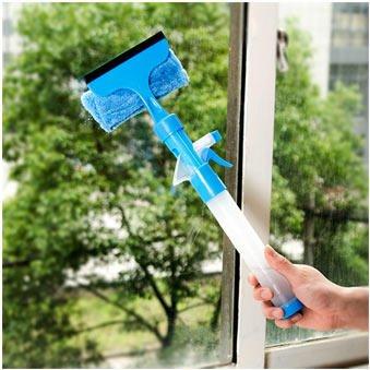 Jinshang Magic Spray - Cepillo de limpieza multifuncional para ventanas (color: azul)