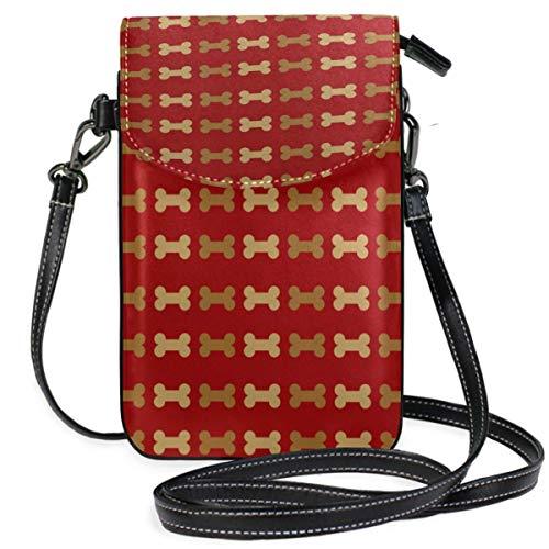 XCNGG Telefontasche Dog Bone Pet Cell Phone Purse Wallet for Women Girl Small Crossbody Purse Bags