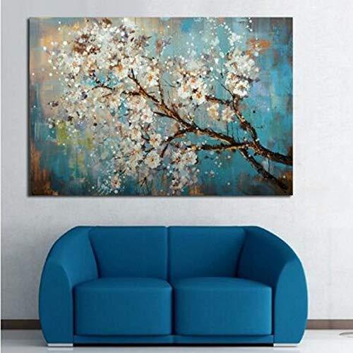 zzlzjj GrandesFlores árbol Abstracto Morden óleosobre Lienzo Pared Arte Pared Cuadros para Sala en Vivo decoración del hogar80cmx120cm