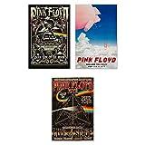 Pink Floyd Poster Wall Art Decor Prints Photos Pics - Set Of 3 (11x17)
