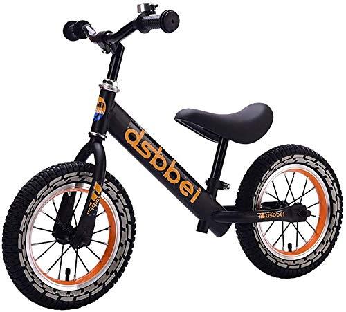 LINGZHIGAN Bicicleta de Equilibrio Bicicleta de Equilibrio, Carro de Diapositiva al Aire Libre Sin pedalear Basking Bike Bike Training Bicycle 2-6 años niñas niñas (Color : Black)