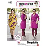 Simplicity Patterns 8221 Mimi G Style Dress for Miss and Plus Sizes, AA (10-12-14-16-18)