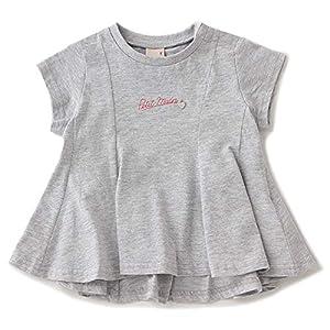 チビロゴAラインタックTシャツ トップ グレー 130