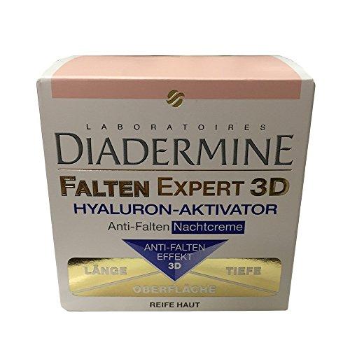 diader Mina Arrugas Expert 3d ácido hialurónico de Activador anti-arrugas Noche Crema, 50ml