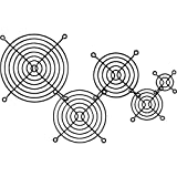 InLine 33378X Lüftergitter Metall, schwarz, 80x80mm