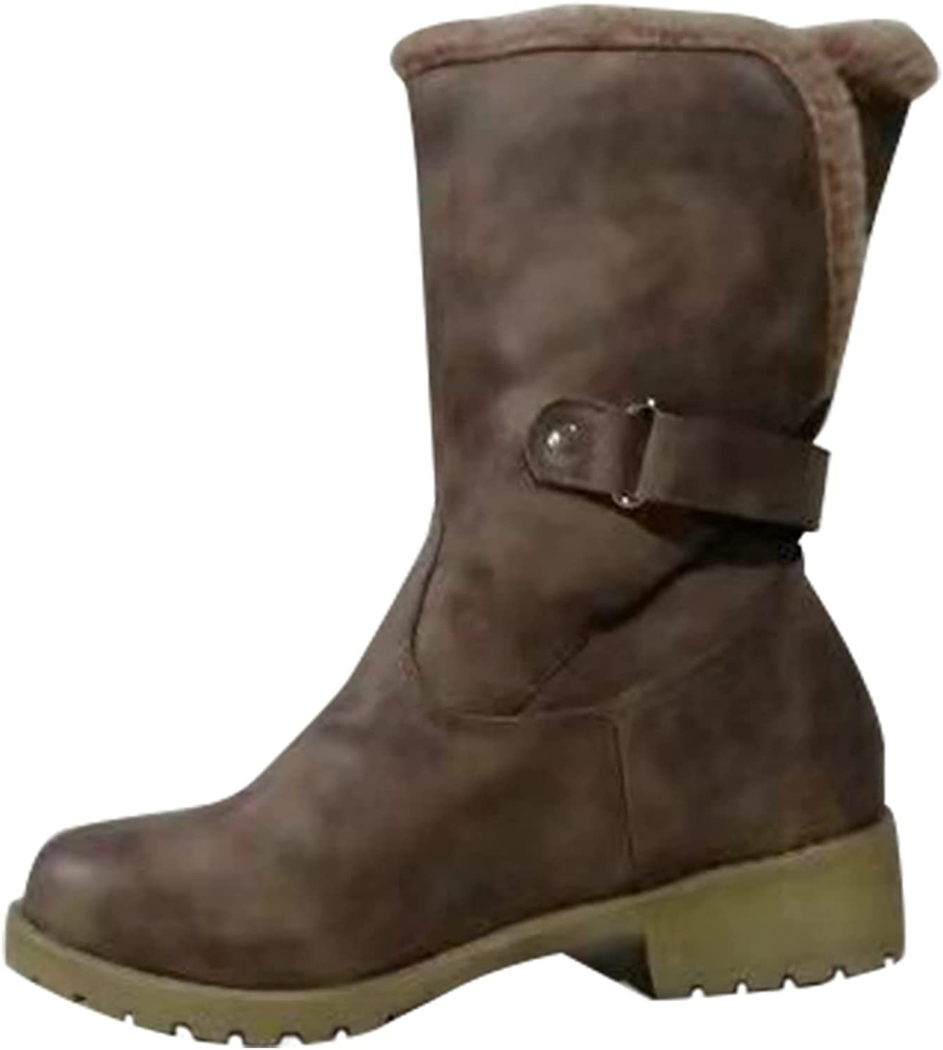 Women's Snow Boots Winter Warm Comfort Low-heeled Warm Low-top Wrapping Snow Boots