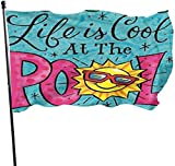 Zikely Saisonfeiertags-Yard-Flaggen-Fahne Personalized House Flag-Summer-Pool-Life Custom Seasonal Holiday Flag for Outdoor Indoor Decor,3x5'