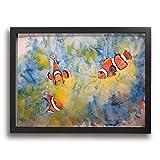 Yanghl カクレクマノミ アートパネル フォトフレーム フレーム装飾画 アートポスター アートボード アートポスター インテリア 装飾画 壁掛け おしゃれ 部屋飾り キャンバス Arts モダン 木枠セット