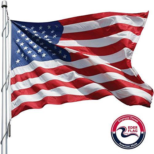 eder products Producto de la Marca, Banderas estadounidenses, 100% Hechas en Estados Unidos, Nailon Resistente, Tejido Abierto, con Costuras Verticales y Esquinas reforzadas