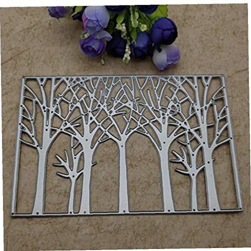 Ruluti Árbol De Matrices De Corte del Fondo del Metal Troqueles De Corte Plantillas Tarjetas De Papel del Sello por Un Estampado Decorativo 15.5 * 10.5cm