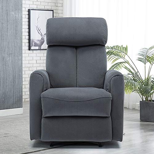 Power Recliner Chair Lift Recliner Chair Electric Recliner Chair Overstuffed Heavy Duty Reclining Single Sofa Chair Power Recliner Sofa for Living Room Home Grey