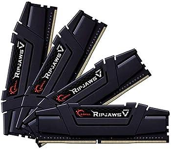 G.Skill RipJaws V Series 128GB  4 x 32GB  288-Pin SDRAM PC4-28800 DDR4 3600 CL18-22-22-42 1.35V Quad Channel Desktop Memory Model F4-3600C18Q-128GVK
