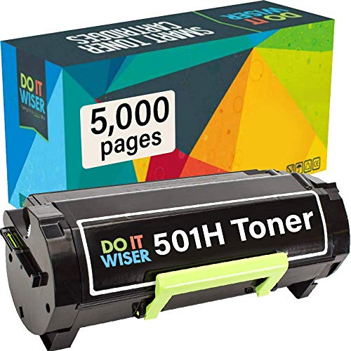 Do it Wiser Compatible Toner Cartridge Replacement for Lexmark 50F1H00 501H Lexmark MS312dn MS610dn MS310 MS510dn MS310dn MS310d MS315dn MS410d MS410dn MS610de (5,000 Pages High Yield)