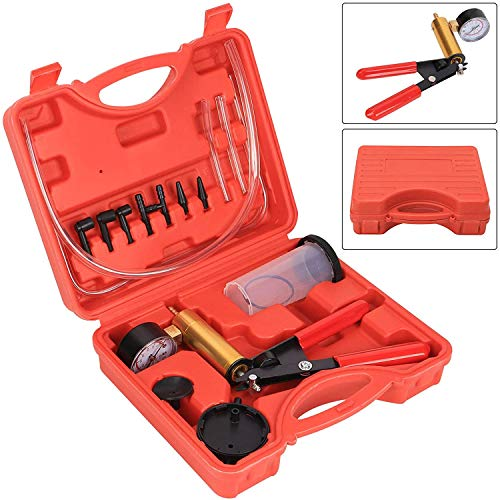 Hand Held Brake Bleeder Tester Set Bleed Kit Vacuum Pump Tester Brake Bleeding for Car Motorbike Motorcycle Diagnosis