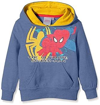 MARVEL The Ultimate Spiderman Sweat-Shirt, Bleu, 3 Ans Fille