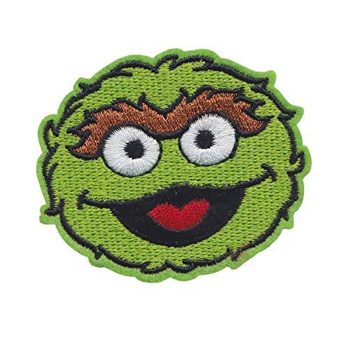 Heerhuo Sesamstrasse Elmo Aufnäher bestickt Cartoon Iron Patch – Cookie Monster Sesamstraße Elmo Cartoon Iron Patch Logo Stoff Aufkleber bronze