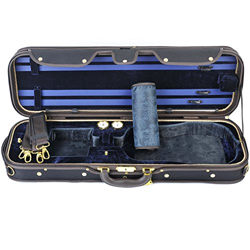 ADM 4/4 Full Size Professional Deluxe Violin Case, Silk Interior