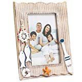 Juvale Nautical Picture Frame, Wood Photo Frame for 4 x 6 Photo (8.4 x 6.8 Inches)