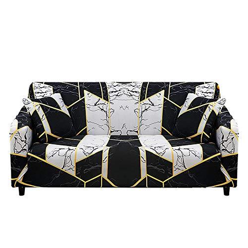 Funda de sofá con Todo Incluido Patrones geométricos Fundas de sofá Fundas de sofá elásticas con Estampado Moderno Protector de Muebles,Color 1,4 Seater(235-300cm)