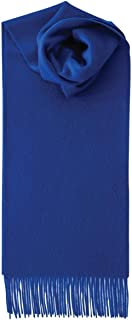 Royal Speyside Unisex Lambswool Plain Scarf - Royal Blue