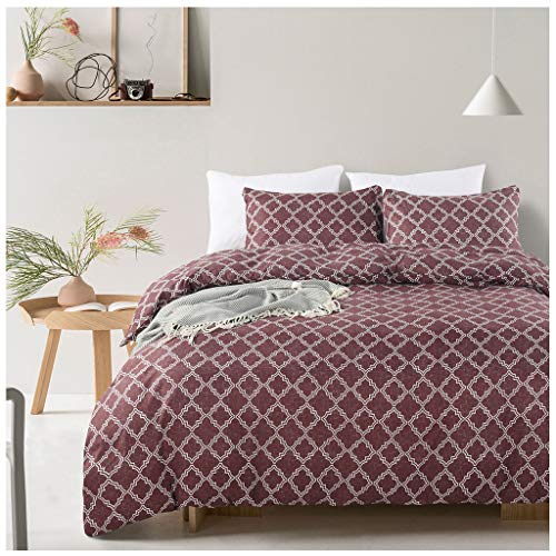 Pillow Case Pillow Case Geometric Pattern 3 Piece Bedding 100% Polyester Quilt Pillow Case Bedding Set Quilt Cover,001,King